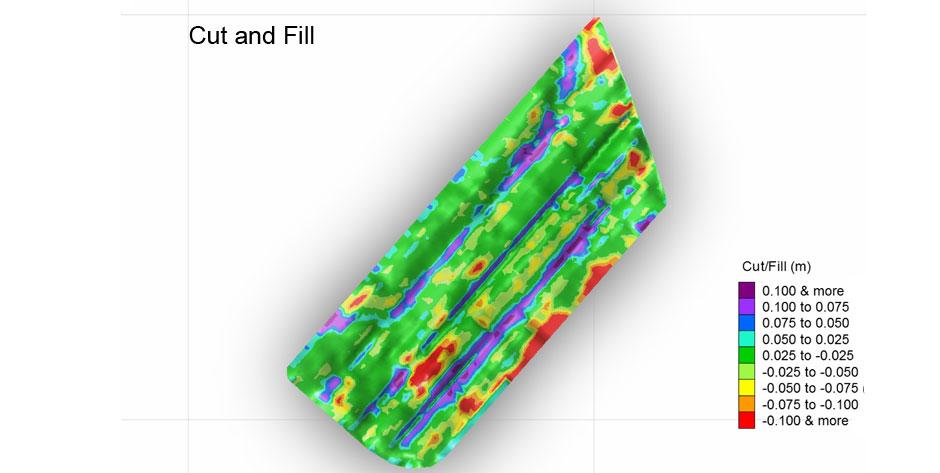 Planification du nivellement : Étape 4 : Remblais / Déblais (Cut and Fill) pour travaux au champ