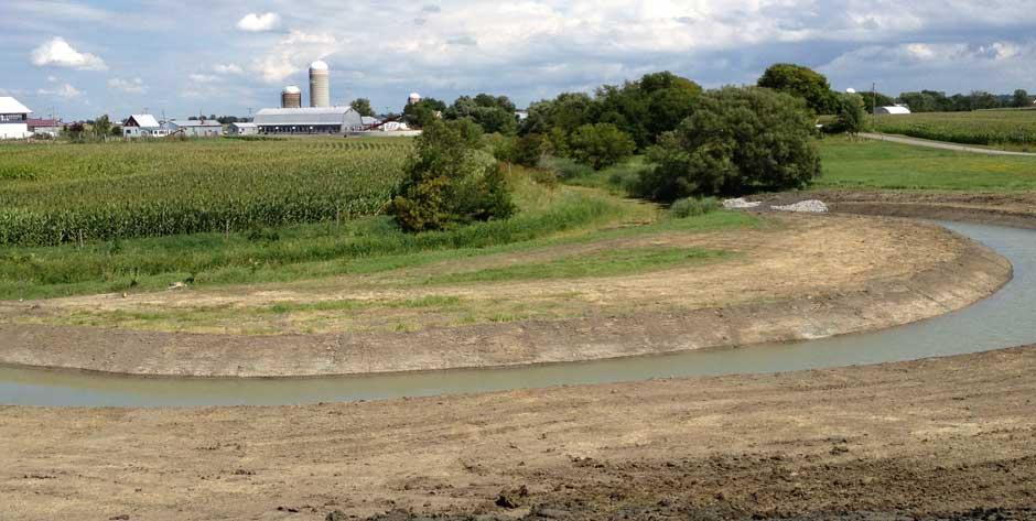 Création d'une frayère à brochet dans la rivière des Fèves